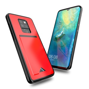DUX DUCIS Pocard Series Card Pocket PU Leather Coated TPU Protective Case for Huawei Mate 20 - Red
