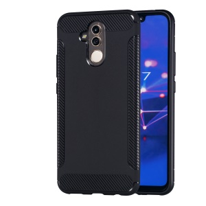 Carbon Fiber Texture Matte TPU Soft Case for Huawei Mate 20 Lite / Maimang 7 - Black