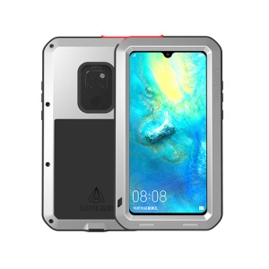 LOVE MEI Dust-proof Shock-proof Splash-proof Defender Phone Cover for Huawei Mate 20 - Silver
