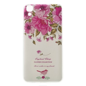 Softlyfit Embossing Pattern Printing TPU Case for Huawei Honor 4A / Y6 - Garden Rose