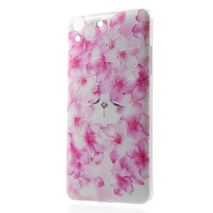 Softlyfit Embossing Pattern Printing TPU Cover for Huawei Honor 4A / Y6 - Blooming Plum Blossom