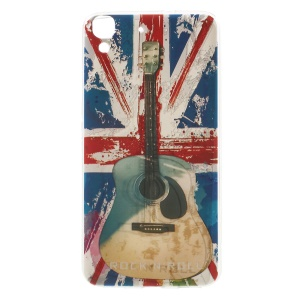 Softlyfit Embossing Pattern Printing TPU Shell Case for Huawei Honor 4A / Y6 - Retro UK Flag and Guitar