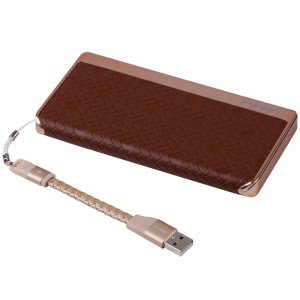 MOMAX MFI Certified iPower Elite+ 2.4A 8000mAh Power Bank Battery Charger Cowhide Leather Skin - Brown