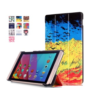Tri-fold Stand Smart Leather Cover for Huawei MediaPad M2 8.0 - Oil Painting