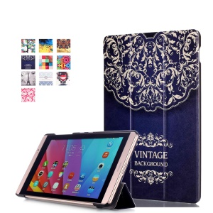 PU Leather Smart Cover for Huawei MediaPad M2 8.0 - Vintage Background Pattern