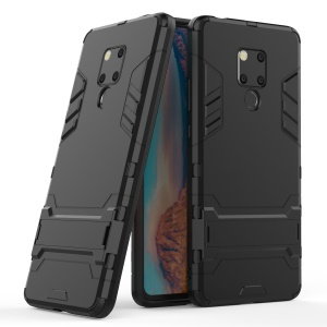 Plastic + TPU Hybrid Case with Kickstand for Huawei Mate 20 X - Black