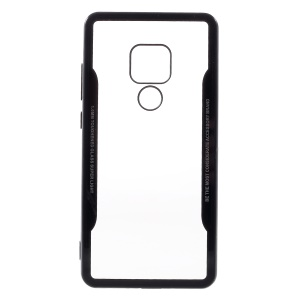 Silicone Edge + Clear Acrylic Back Hybrid Casing for Huawei Mate 20 - Black