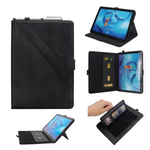 Flip Card Slots Stand Leather Tablet Shell for Huawei Mediapad M5 Pro 10.8 inch - Black
