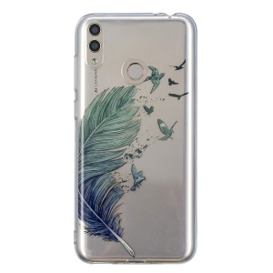 Pattern Printing IMD TPU Back Case for Huawei Honor 8X - Quill Pen