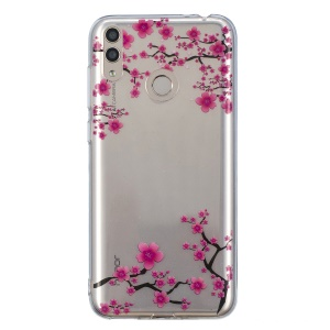 Pattern Printing IMD TPU Shell Case for Huawei Honor 8X - Elegant Flower