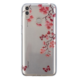Pattern Printing IMD TPU Cover for Huawei Honor 8X - Vivid Flowers