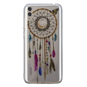 Pattern Printing IMD TPU Case Accessory for Huawei Honor 8X - Feather Dream Catcher