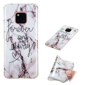 Pattern Printing IMD TPU Mobile Cover Case for Huawei Mate 20 Pro - Style J