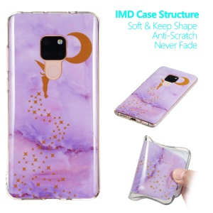 Marble Pattern IMD TPU Case for Huawei Mate 20 - Style A