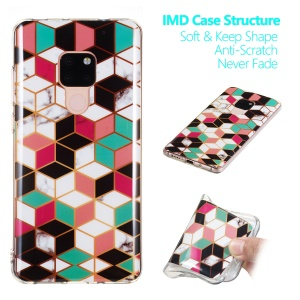 Marble Pattern IMD TPU Phone Shell Case for Huawei Mate 20 - Style D