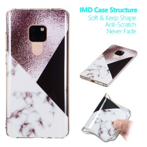 Marble Pattern IMD TPU Case Cover for Huawei Mate 20 - Style E