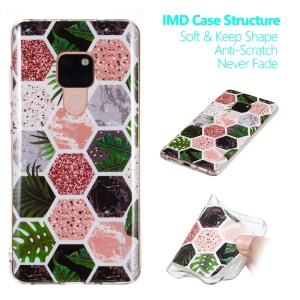 Marble Pattern IMD TPU Soft Case for Huawei Mate 20 - Style F