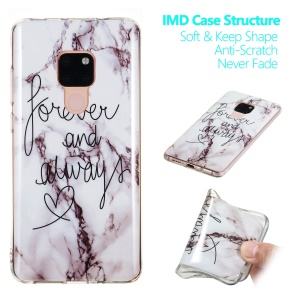 Marble Pattern IMD TPU Case Accessory for Huawei Mate 20 - Style G