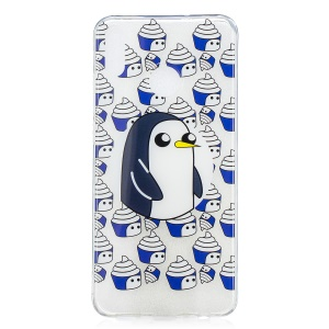 Pattern Printing IMD TPU Soft Case for Huawei Honor 8X / Honor View 10 Lite - Penguin and Ice Cream
