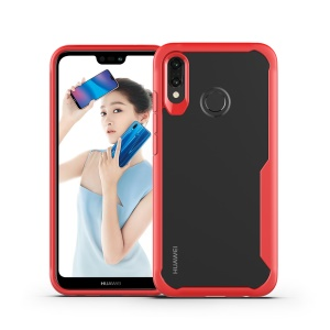 Shock Absorption PC + TPU Hybrid Phone Case for Huawei Honor Note 10 - Red