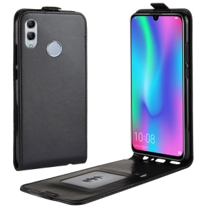 Crazy Horse Vertical Leather Case with Card Slot for Huawei Honor 10 Lite / P Smart (2019) - Black