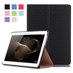 Slim Leather Case Smart Stand Cover for Huawei MediaPad M2 10.0 - Black