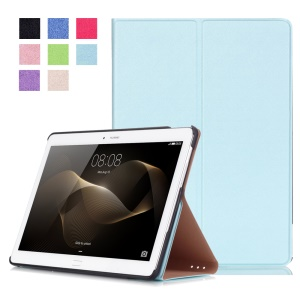 Smart Leather Stand Tablet Cover for Huawei MediaPad M2 10.0 - Baby Blue