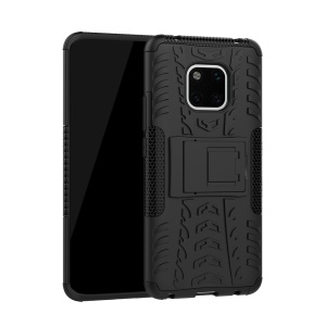Cool Tyre Kickstand PC + TPU Hybrid Protection Case for Huawei Mate 20 Pro - Black
