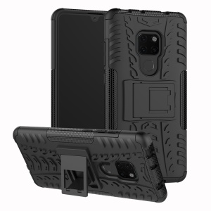 Cool Tyre PC + TPU Hybrid Phone Case with Kickstand for Huawei Mate 20 - Black