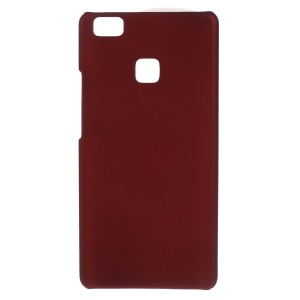 Rubber Coating Hard Shell Cover Case for Huawei P9 Lite - Red