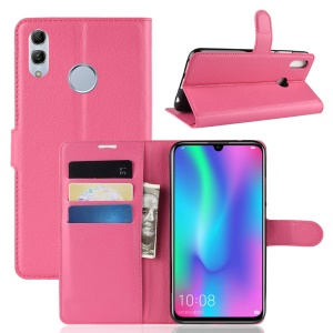 Litchi Texture Wallet Leather Protection Shell for Huawei Honor 10 Lite / P Smart (2019) - Rose