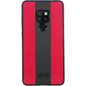 NILLKIN Racer Case for Huawei Mate 20 PU Leather Coated PC TPU Hybrid Shell - Red