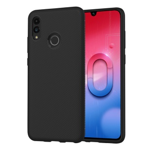 LENUO Twill Texture TPU Back Case for Huawei Honor 10 Lite / P Smart (2019) - Black