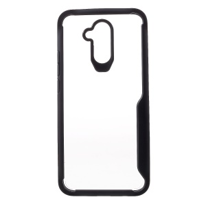 Silicone Edge + Clear Acrylic Back Hybrid Case for Huawei Mate 20 Lite - Black