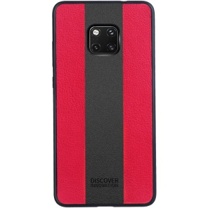 NILLKIN Racer Case for Huawei Mate 20 Pro PU Leather Coated PC TPU Combo Phone Shell - Red