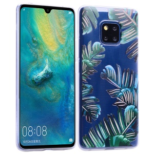 Pattern Printing TPU Case for Huawei Mate 20 Pro - Leaves