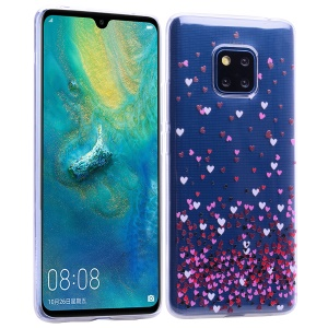 Pattern Printing TPU Shell Case for Huawei Mate 20 Pro - Hearts
