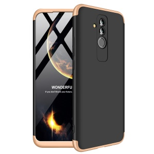 GKK Detachable 3-Piece Matte Hard PC Cover Shell Case for Huawei Mate 20 Lite - Gold / Black