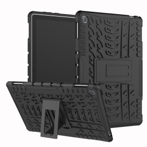 Cool Tyre PC + TPU Combo Case with Kickstand for Huawei MediaPad M5 lite 10 - Black