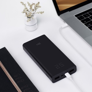 ZMI QB822 20000mAh Quick Charge Power Bank with Type-C Micro USB Double Input Ports - Black