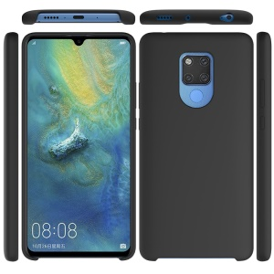Liquid Silicone Back Case for Huawei Mate 20 X - Black