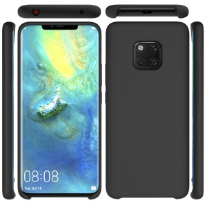 Liquid Silicone Mobile Casing for Huawei Mate 20 Pro - Black