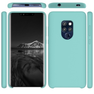 Liquid Silicone Phone Back Cover for Huawei Mate 20 - Cyan