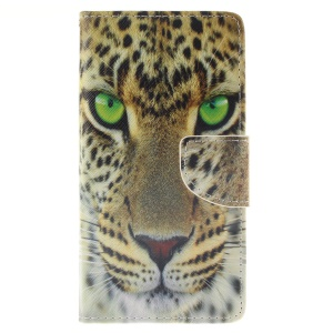 Wallet Leather Cover Case for Huawei Ascend P8 Lite - Tiger Pattern