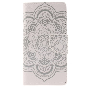Wallet Leather Case Cover for Huawei Ascend P8 Lite - Flowers Pattern