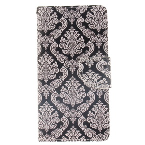 Wallet Leather Magnetic Case for Huawei Ascend P8 Lite - Damask Flowers