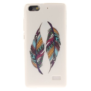IMD Soft TPU Gel Phone Case for Huawei Honor 4C - Colorized Feathers
