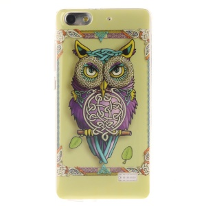 IMD Soft TPU Gel Phone Shell Cover for Huawei Honor 4C - Adorable Owl