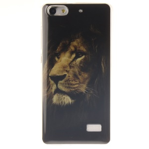 IMD Soft TPU Gel Phone Shell Cover for Huawei Honor 4C - Lonely Tiger