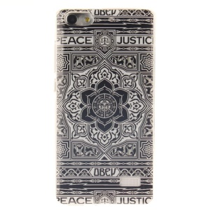 IMD Soft TPU Gel Protective Case for Huawei Honor 4C - Retro Floral Pattern